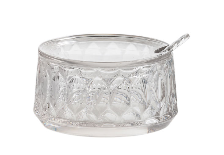 Tableware - Tea & Coffee Accessories - Jellies Family Sugar bowl - / With spoon by Kartell - Crystal - Thermoplastic technopolymer