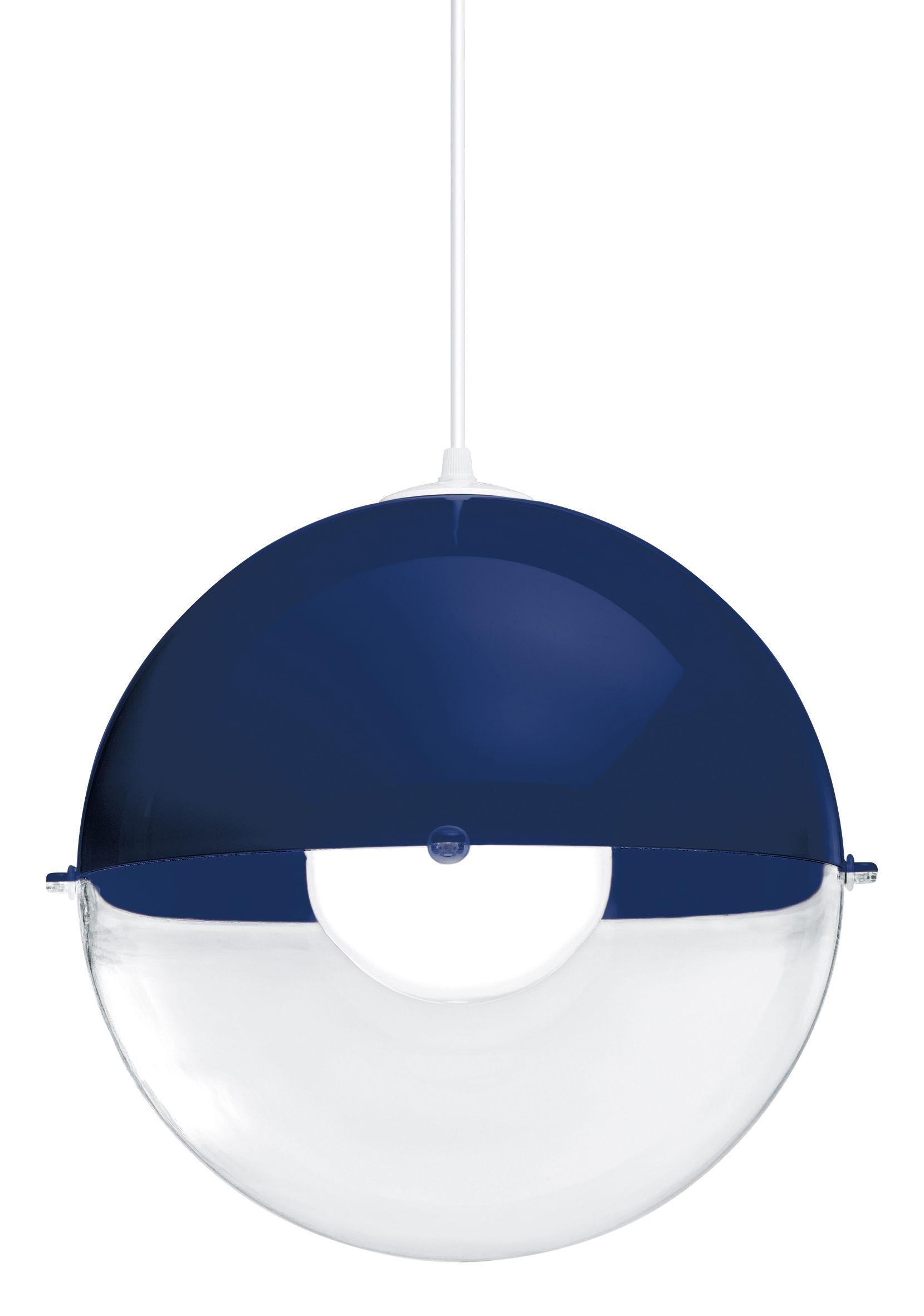 Luminaire - Suspensions - Suspension Orion / Ø 32 cm - Koziol - Bleu marine / Transparent - Polystyrène