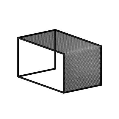 Table basse Tristano / 55 x 35 cm x H 30 cm - Résille d'acier - Zeus noir en métal