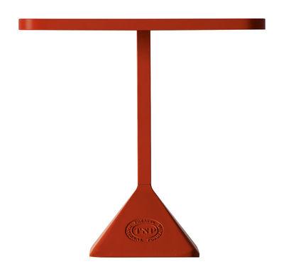 Outdoor - Tables de jardin - Table carrée TNP / 70 x 70 cm - Kristalia - 70 x 70 cm - Structure rouge / Plateau rouge - Acier laqué, Acier verni, Fonte