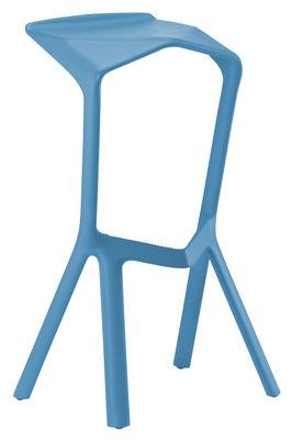 Tabouret de bar Miura / H 78 cm - Plastique - Plank bleu en matière plastique