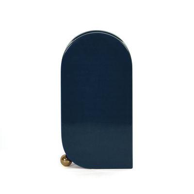 Déco - Vases - Vase Eos Large / L 16 x H 30 cm - Céramique peinte à la main - ENOstudio - Bleu (brillant) - Céramique