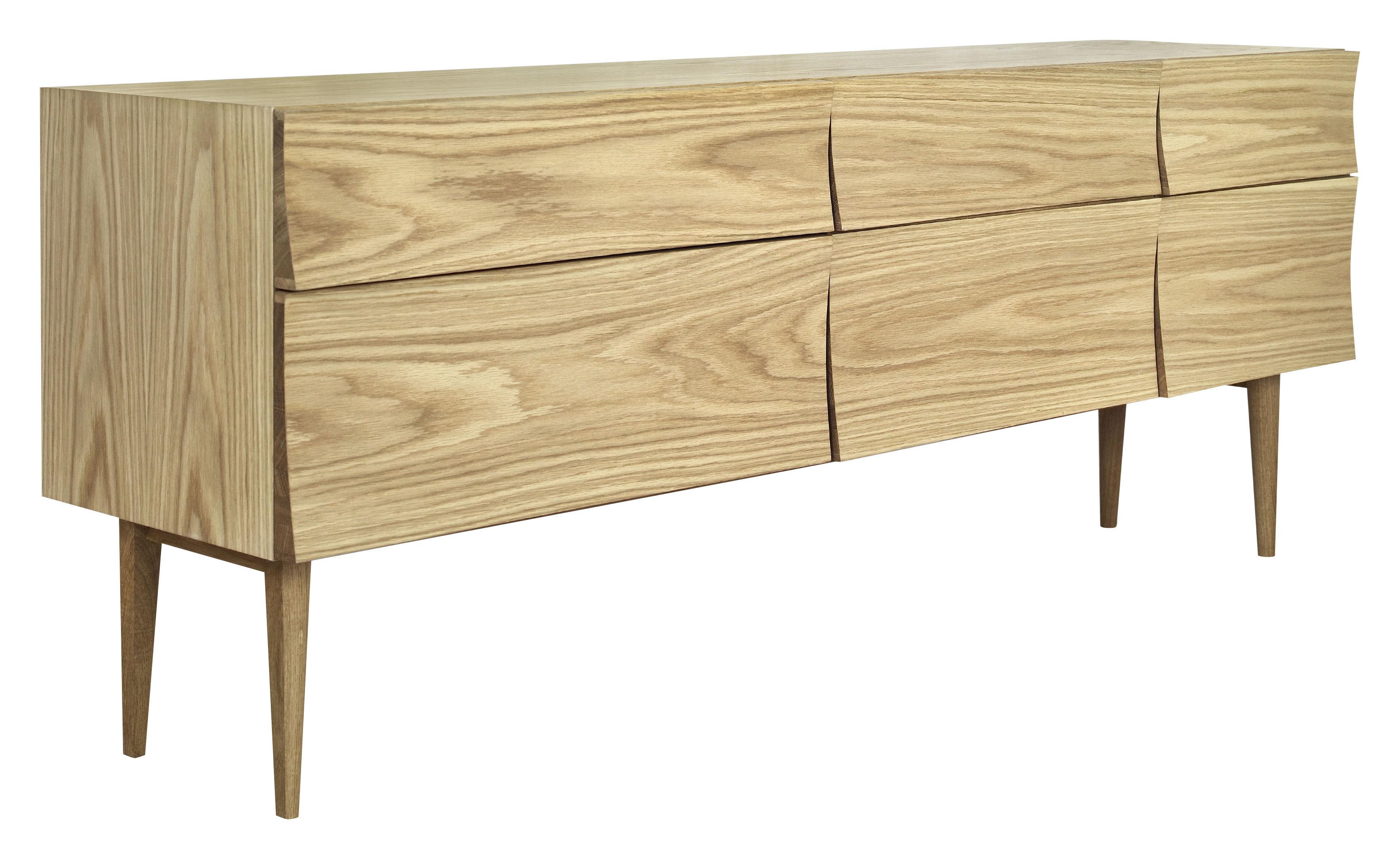 Möbel - Kommode und Anrichte - Reflect Large Anrichte - Muuto - Eiche - Eiche