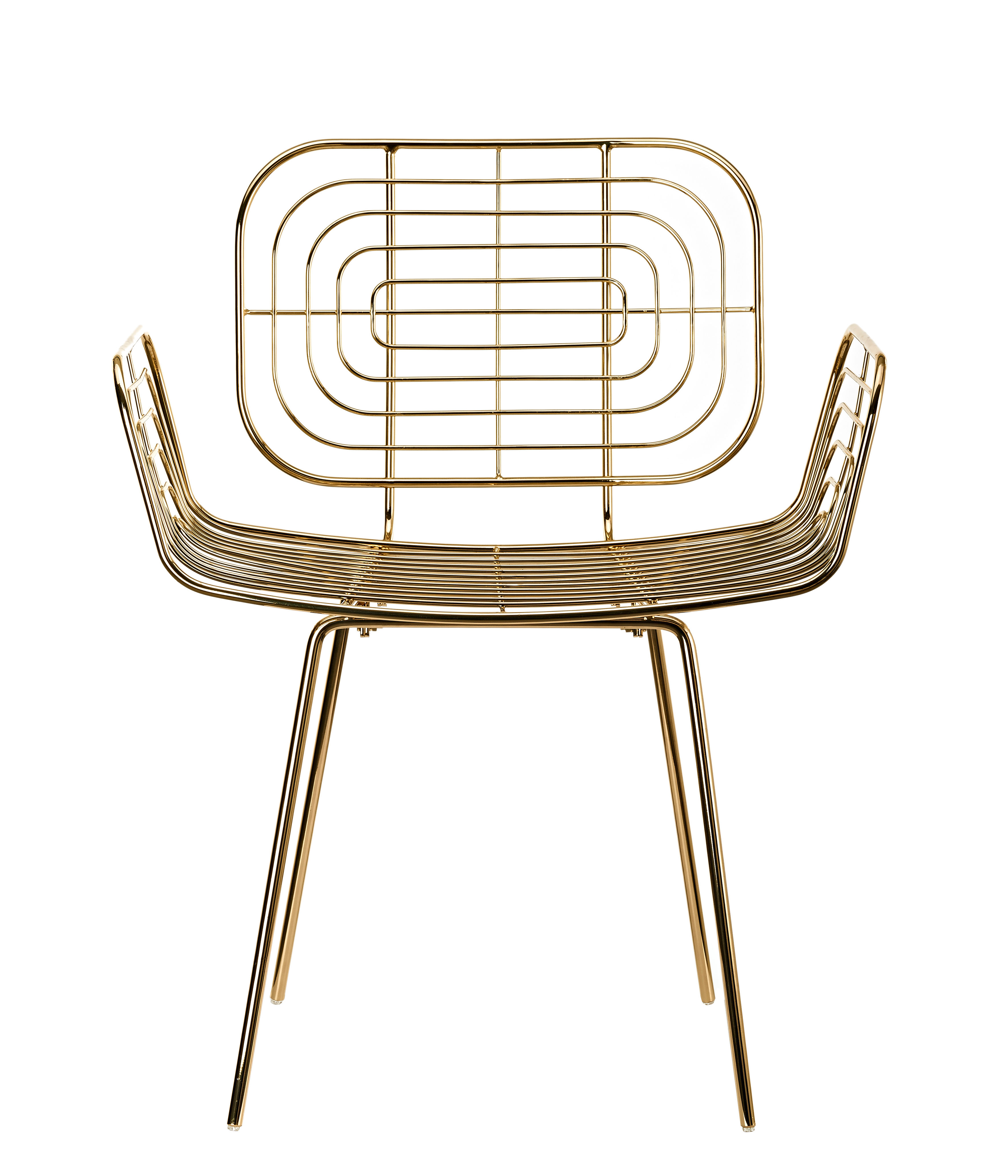 Furniture - Chairs - Boston Armchair - / Metal by Pols Potten - Gold - Lacquered metal