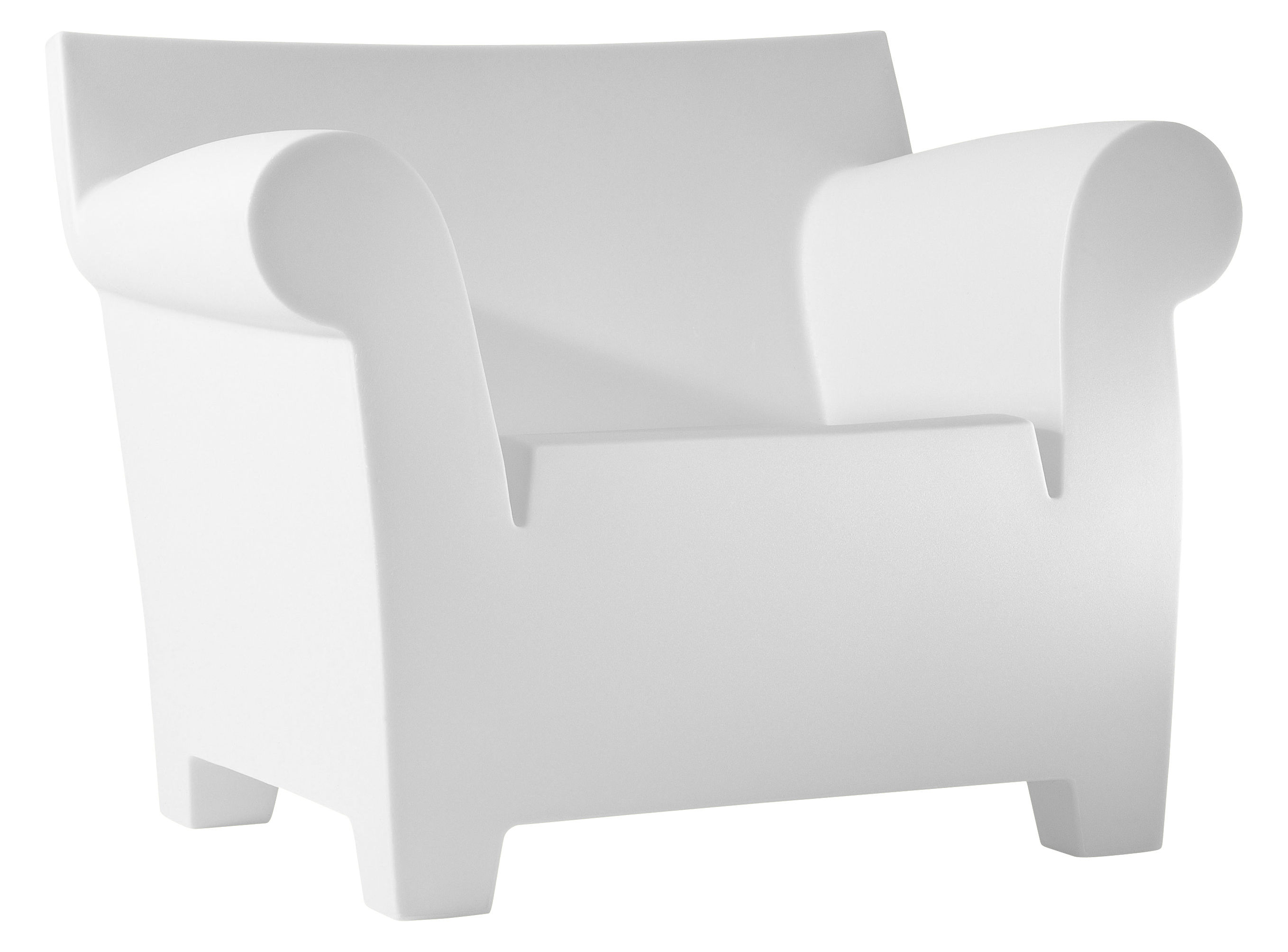 Furniture - Armchairs - Bubble Club Armchair by Kartell - White - Polypropylene