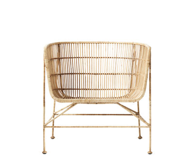 Product selections - Modern nature - Cuun Armchair - / Rattan by House Doctor - Armchair / Natural - Iron, Rattan