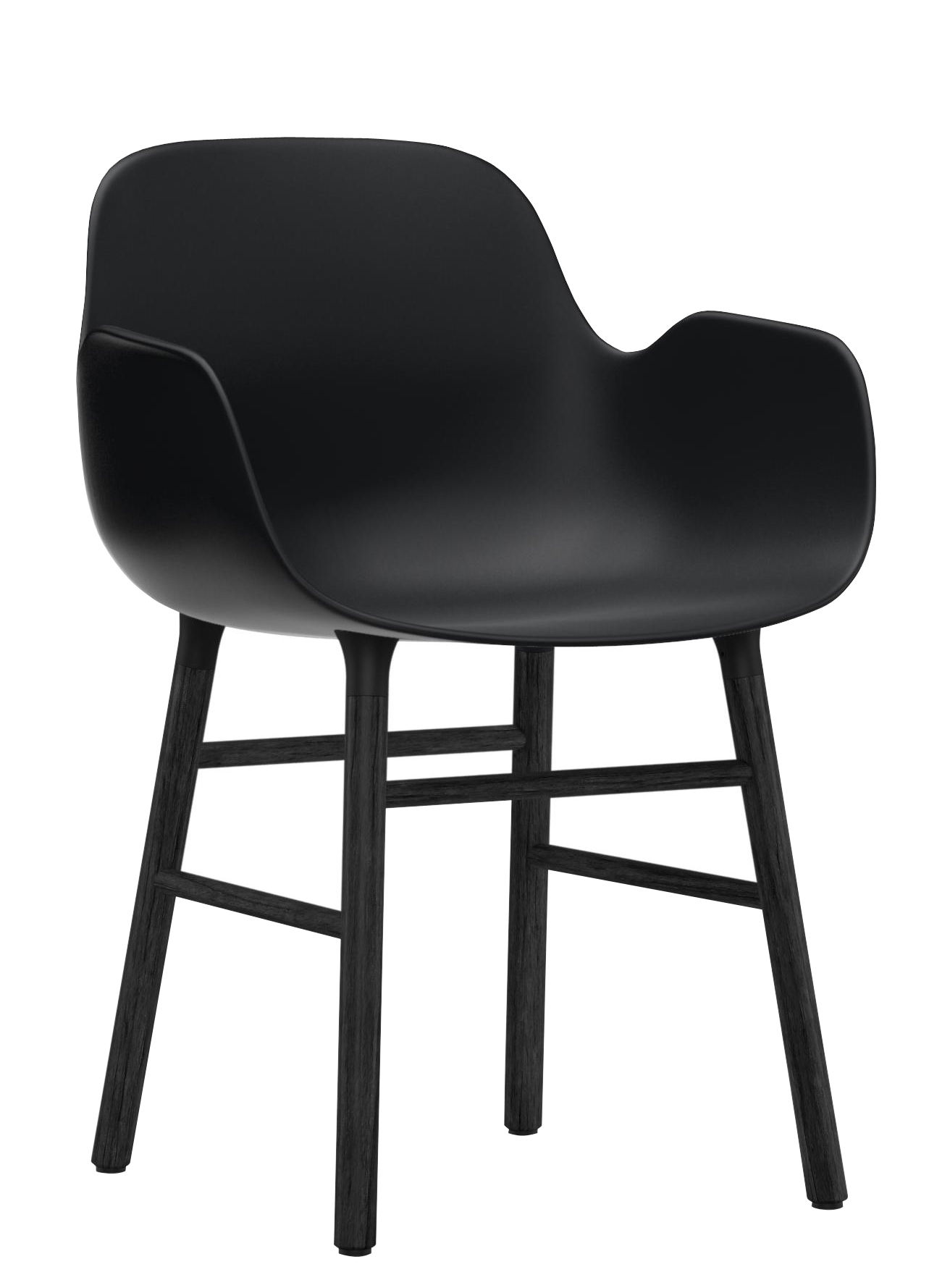 Furniture - Chairs - Form Armchair - Lacquered wood by Normann Copenhagen - Black - Lacquered oak, Polypropylene