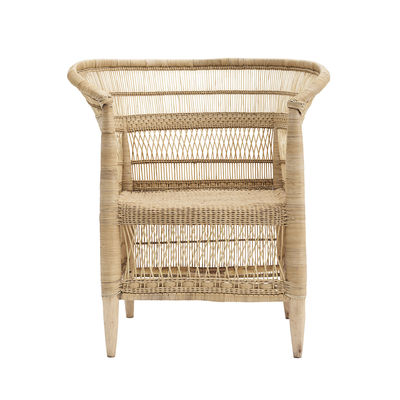 Furniture - Armchairs - Rika Armchair - / Rattan by House Doctor - Natural - Rattan, Wood