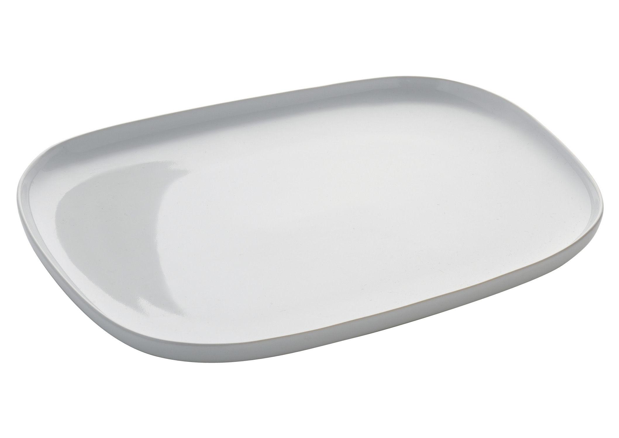 Arts de la table - Assiettes - Assiette Ovale / L 28,5 cm - Alessi - Blanc - Céramique Stoneware