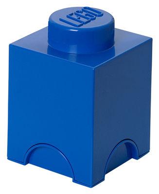 Déco - Pour les enfants - Boîte Lego® Brick / 1 plot - Empilable - ROOM COPENHAGEN - Bleu - Polypropylène