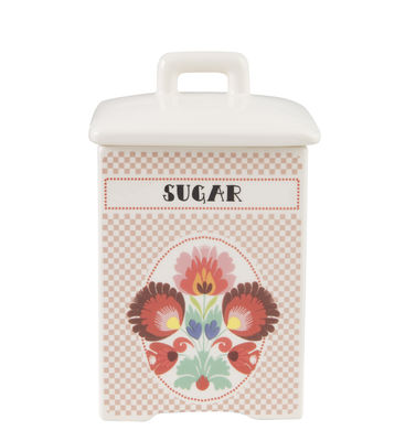 Kitchenware - Kitchen Storage Jars - Sugar Box - / H 15.4 cm - China by Bitossi Home - Sugar / Multicolour - China