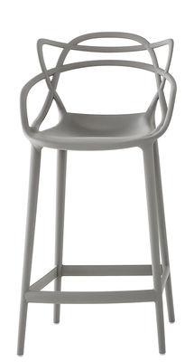 Chaise de bar Masters / H 65 cm - Polypropylène - Kartell gris en matière plastique