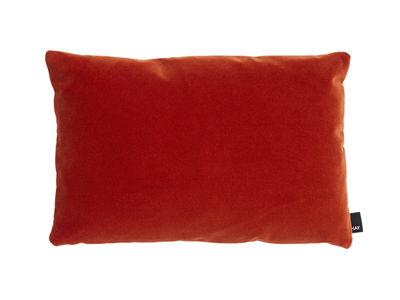 Déco - Coussins - Coussin Eclectic / 45 x 30 cm - Hay - Rouge vibrant - Laine, Plumes, Velours