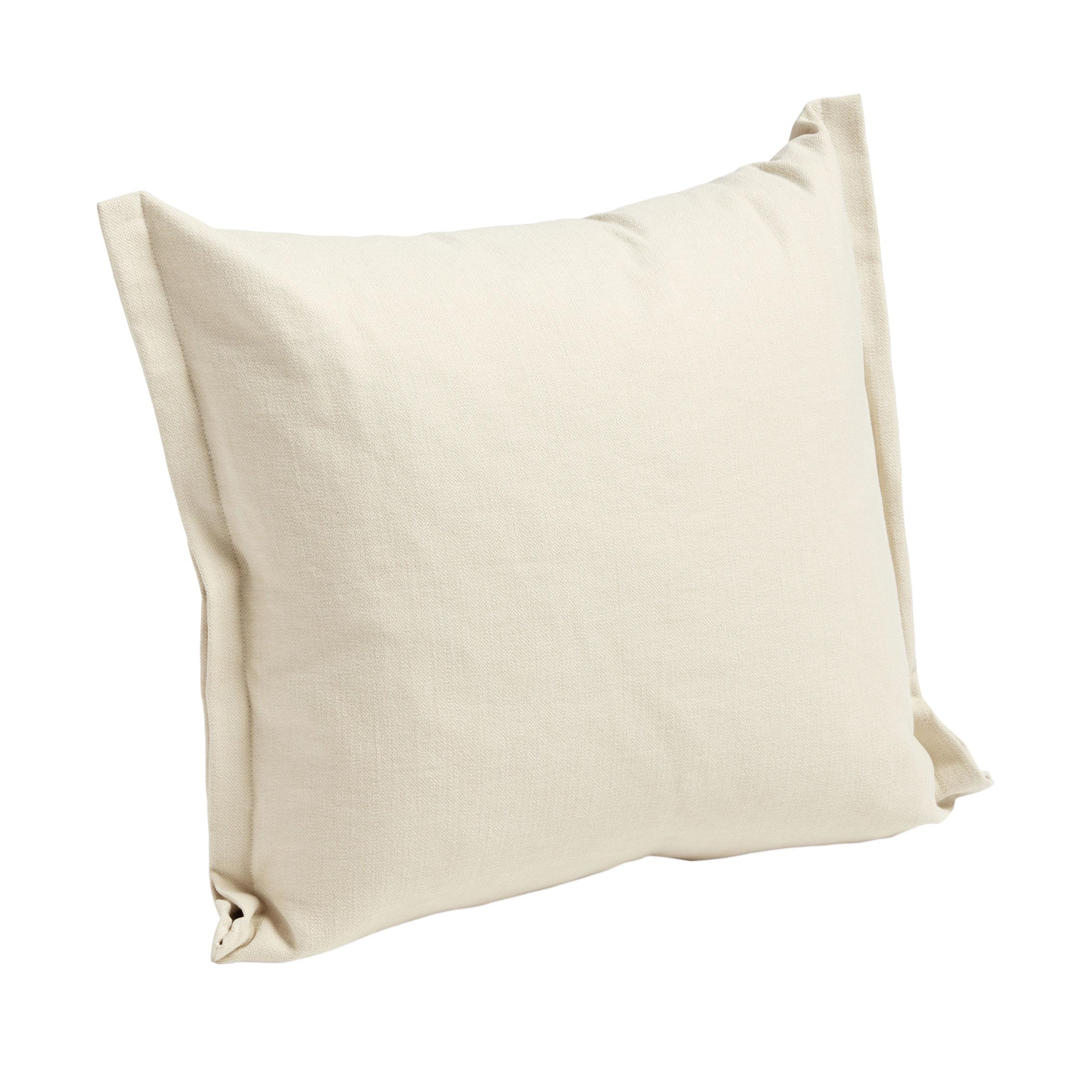 Déco - Coussins - Coussin Plica Tint / 60 x 55 cm - Hay - Crème - Cotton, Lin