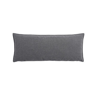 Interni - Cuscini  - Cuscino lombare - / Per divano In Situ - 65 x 25 di Muuto - Grigio scuro - Espanso, Tessuto Kvadrat