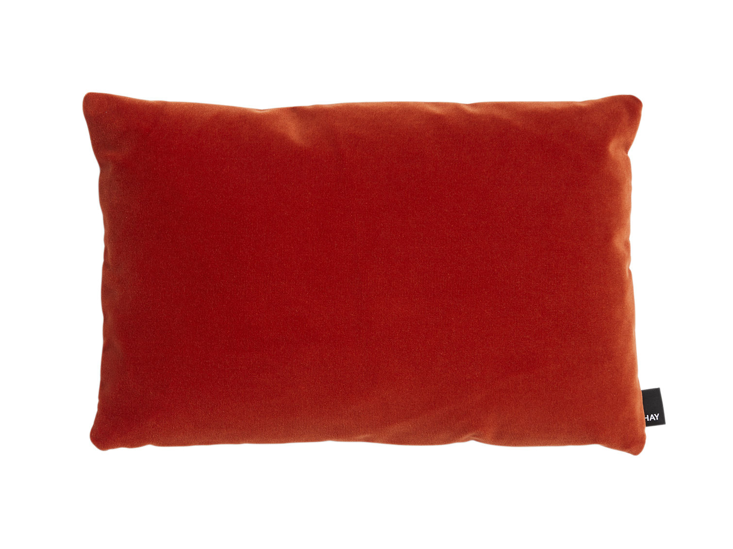 Decoration - Cushions & Poufs - Eclectic Cushion - / 45 x 30 cm by Hay - Vibrant red -  Plumes, Velvet, Wool