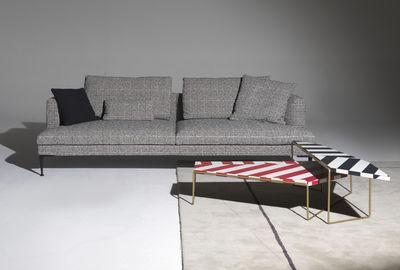 Divani Bianchi E Neri : Lirico divano destro 3 posti l 240 cm quadrati neri & bianchi