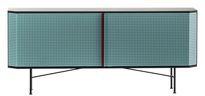 Furniture - Dressers & Storage Units - Perf Dresser by Diesel with Moroso - Green / Grey - Varnished steel
