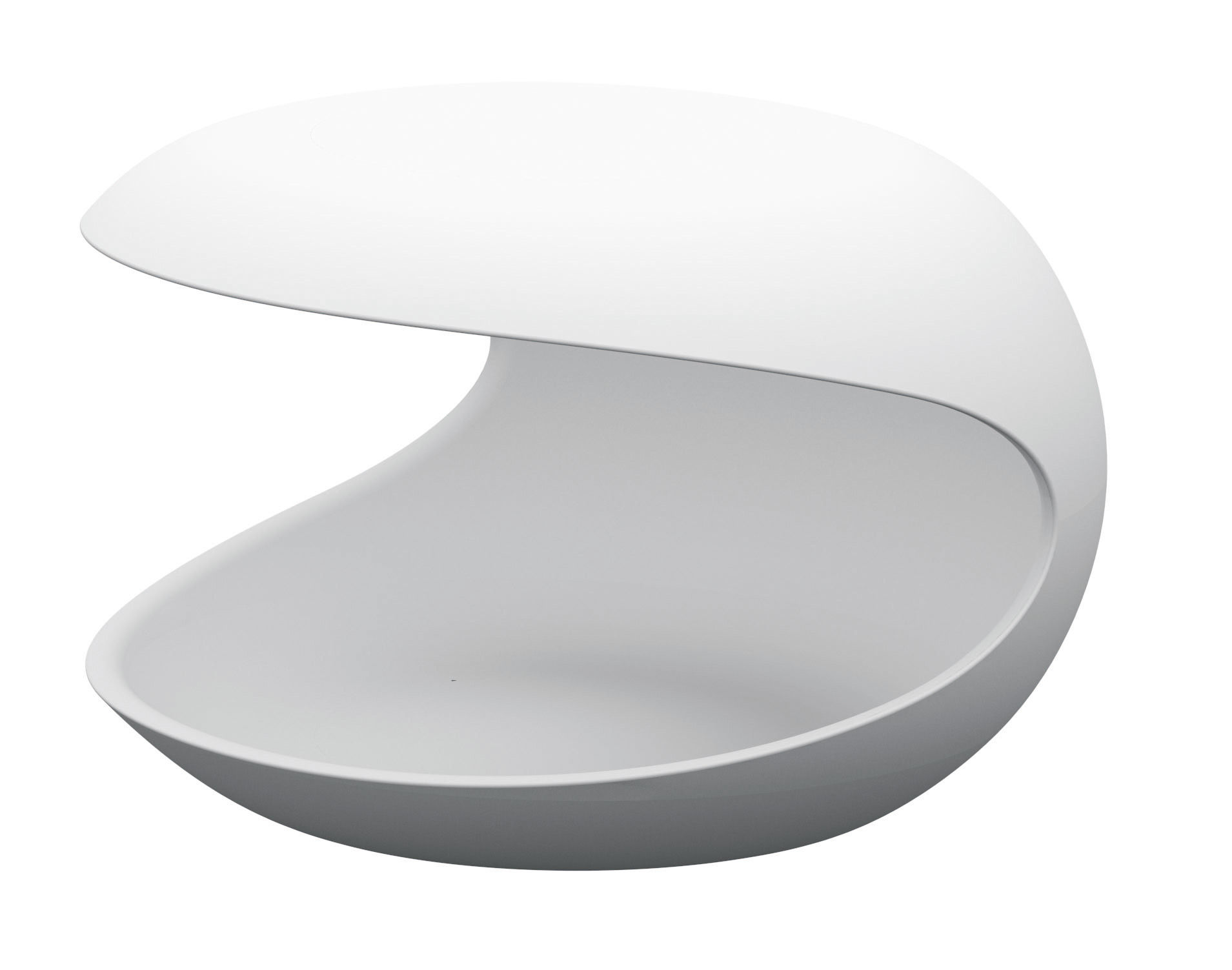 Furniture - Coffee Tables - White shell End table by Zanotta - White - Cristalplant