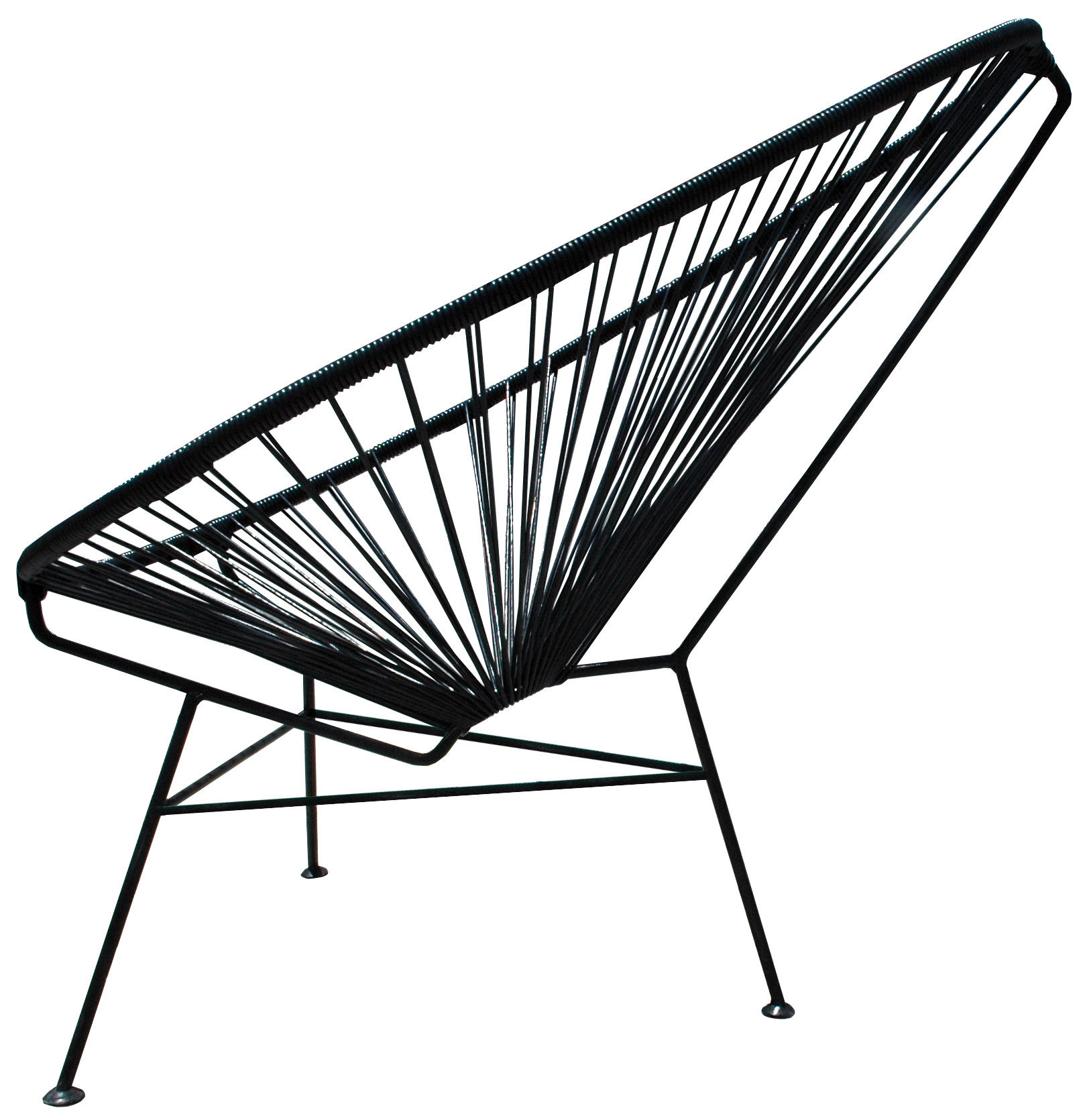 Mobilier - Fauteuils - Fauteuil bas Acapulco - OK Design pour Sentou Edition - Noir - Acier laqué, Matière plastique