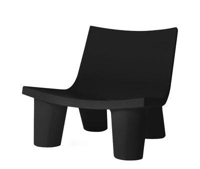 Fauteuil bas Low Lita - Slide noir en matière plastique