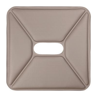 Galette d'assise / Similicuir - Pour tabourets - Tolix taupe en cuir