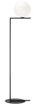 Lampadaire IC F2 / H 185,2 cm - Flos blanc,noir en métal