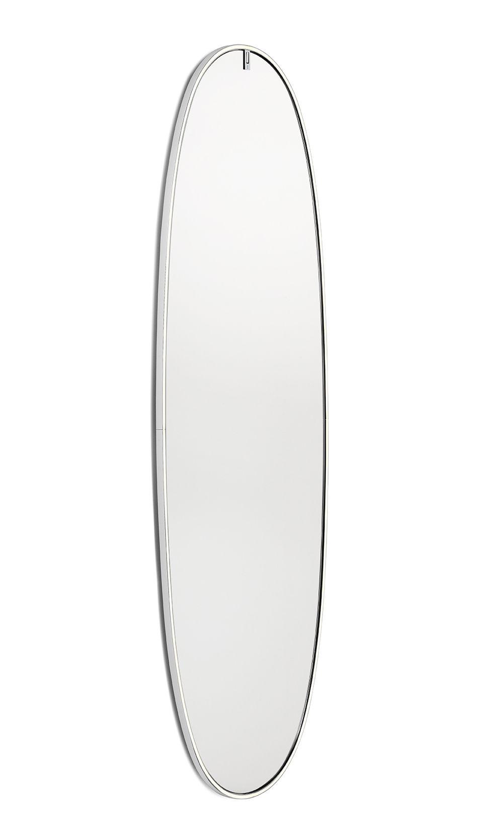 Luminaire - Appliques - Miroir lumineux La Plus Belle LED / By Starck - H 205 cm - Flos - Aluminium poli - Alliage d'aluminium, Silicone, Verre sécurit