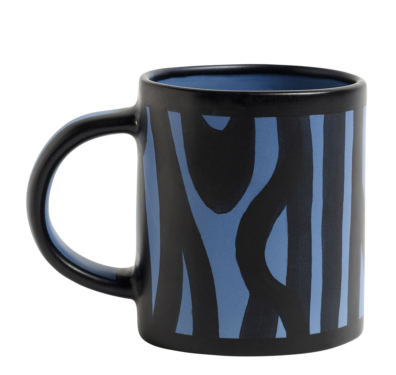 Arts de la table - Tasses et mugs - Mug Wood / Peint à la main - Hay - Bleu royal - Grès émaillé