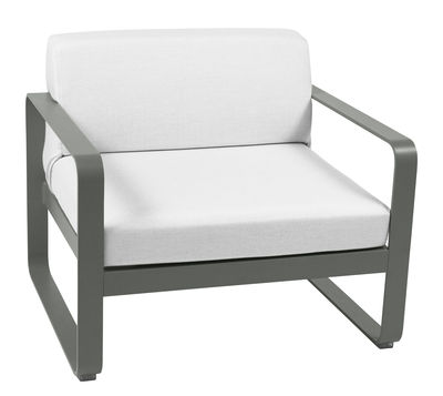 Furniture - Armchairs - Bellevie Padded armchair by Fermob - Rosemary - Acrylic fabric, Foam, Lacquered aluminium