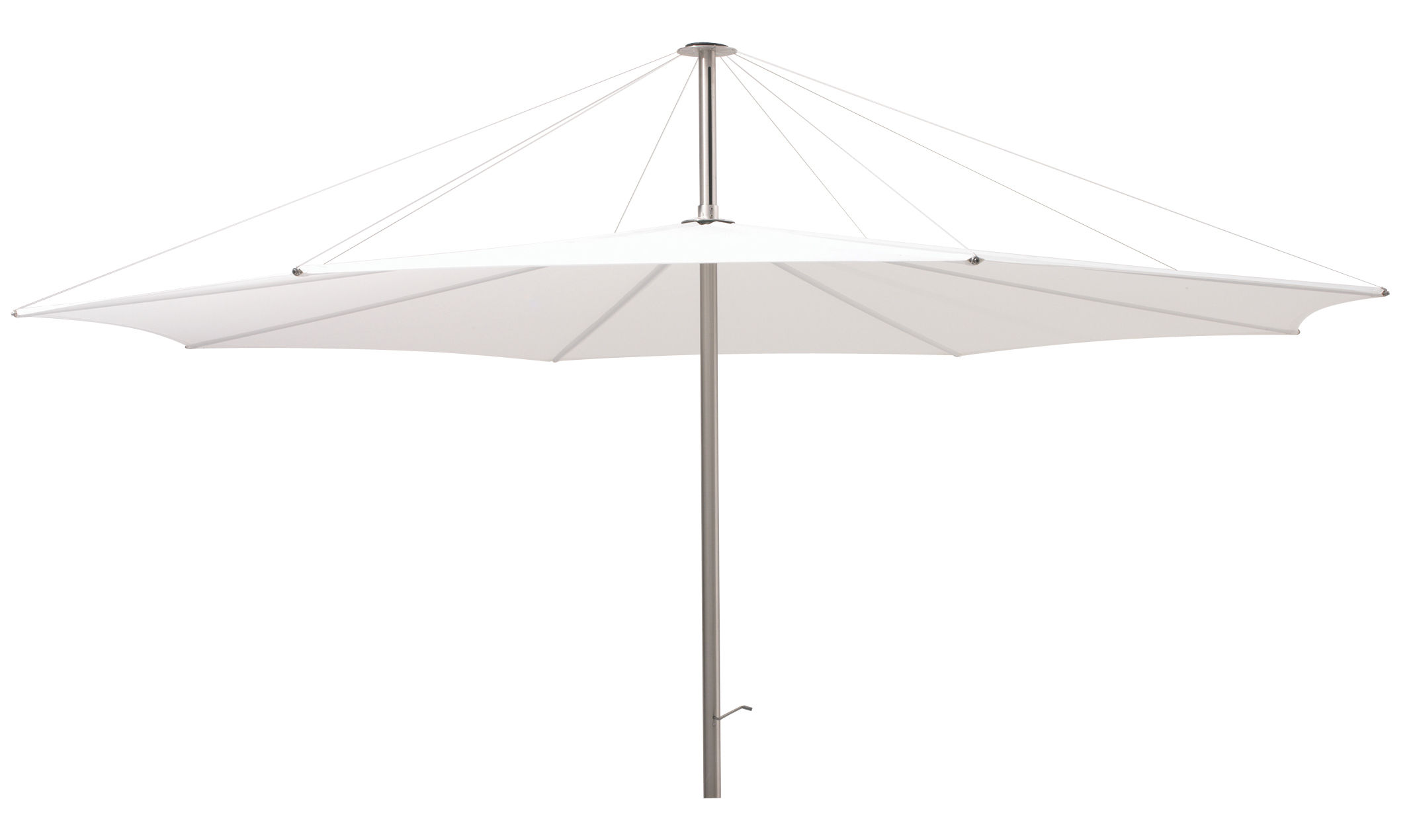 Outdoor - Parasols - Inumbra Parasol - Ø 400 cm by Extremis - White - Ø 400 cm - Polyester cloth, Stainless steel