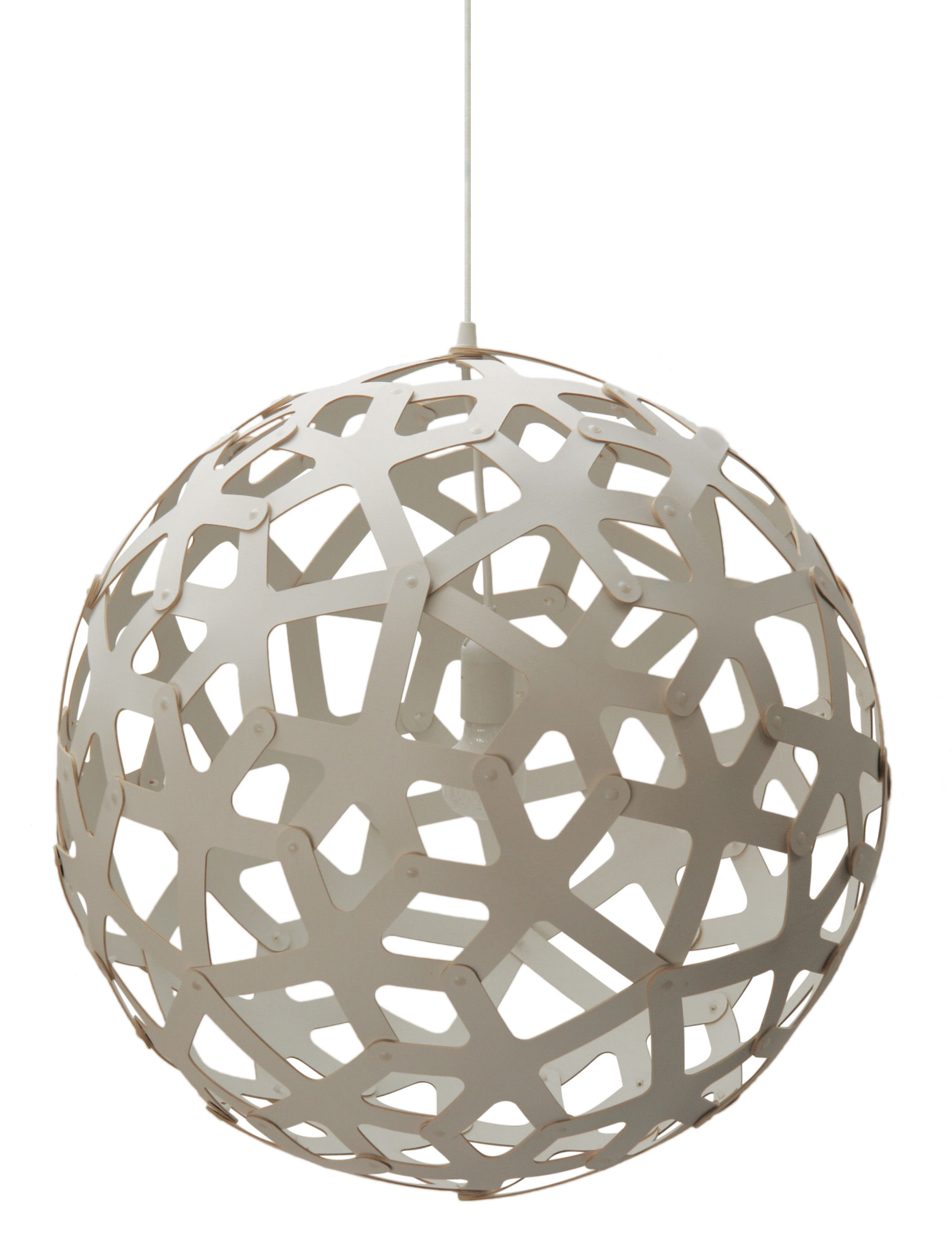 Lighting - Pendant Lighting - Coral Pendant - / Ø 60 cm - White by David Trubridge - White - Pine