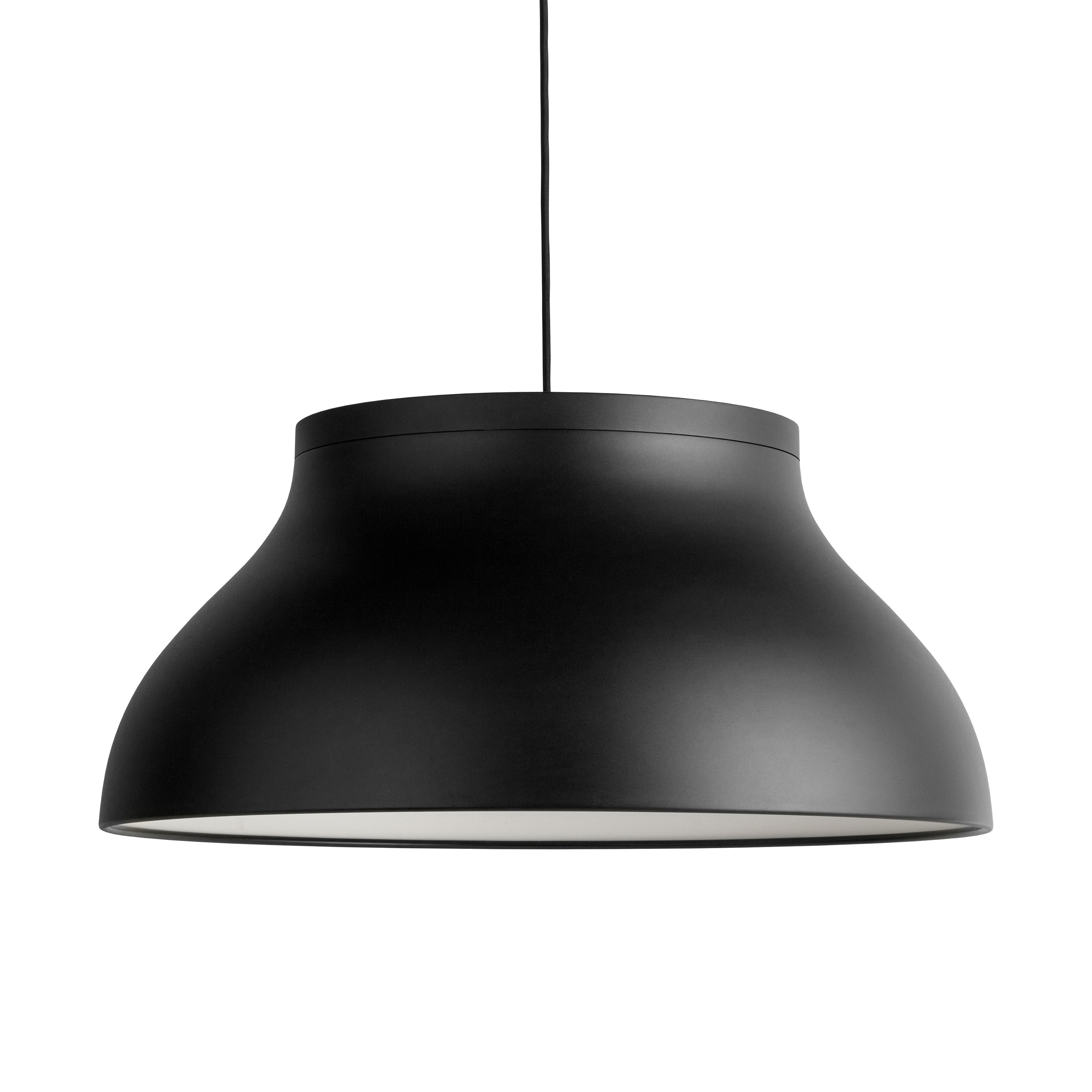 Lighting - Pendant Lighting - PC Large Pendant - / Ø 60 cm - Aluminium by Hay - Black - Anodized aluminium