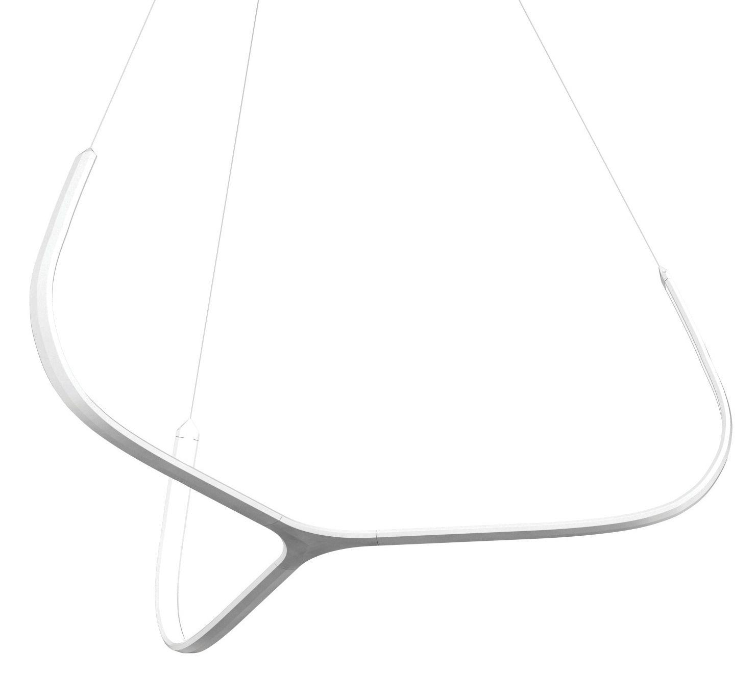 Leuchten - Pendelleuchten - Alya Pendelleuchte LED / Ø 90 cm - Nemo - Weiß - bemaltes Aluminium, Methacrylate