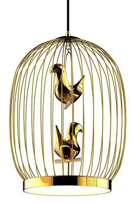 Twee T. Large Pendelleuchte / LED - H 56 cm - vergoldet - Casamania - Gold