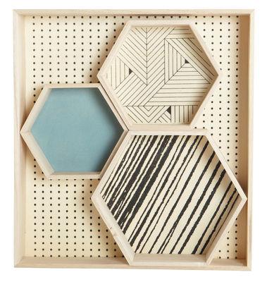 Arts de la table - Plateaux - Plateau Hexagonal / Bois - Set de 4 - House Doctor - Bois clair - Contreplaqué, Paulownia