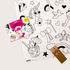 Poster à colorier Coloriage Pocket - Licorne / 52 x 38 cm - OMY Design & Play