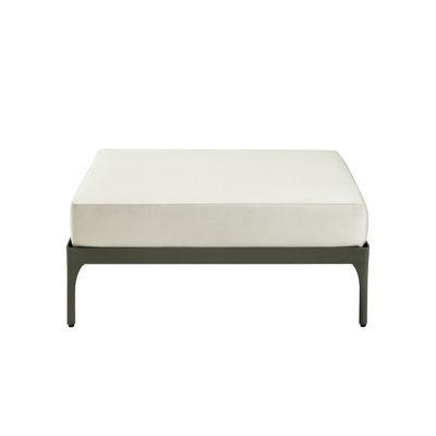Mobilier - Poufs - Pouf Infinity / Sans coussin - 90 x 90 cm - Ethimo - Pouf / Gris chaud - Aluminium thermolaqué