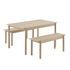 Linear WOOD Rectangular table - / Wood - 140 x 85 cm by Muuto