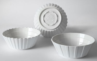 Tableware - Bowls - Machine Collection Salad bowl - / Set of 3 - Ø 22 cm by Diesel living with Seletti - White - China