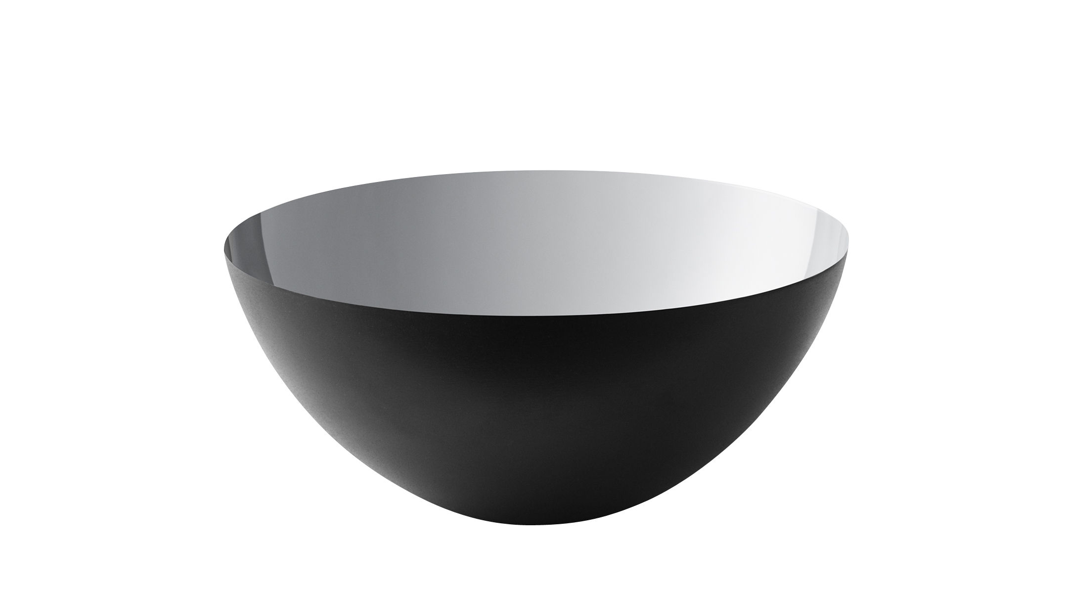 Tischkultur - Salatschüsseln und Schalen - Krenit Schale / Ø 12,5 x H 5,9 cm - Stahl - Normann Copenhagen - Schwarz / Innenseite silberfarben - emaillierter Stahl