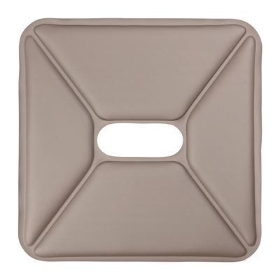Decoration - Cushions & Poufs - Seat cushion - Synthetic leather - For stools by Tolix - Synthetic leather / Taupe - Imitation leather