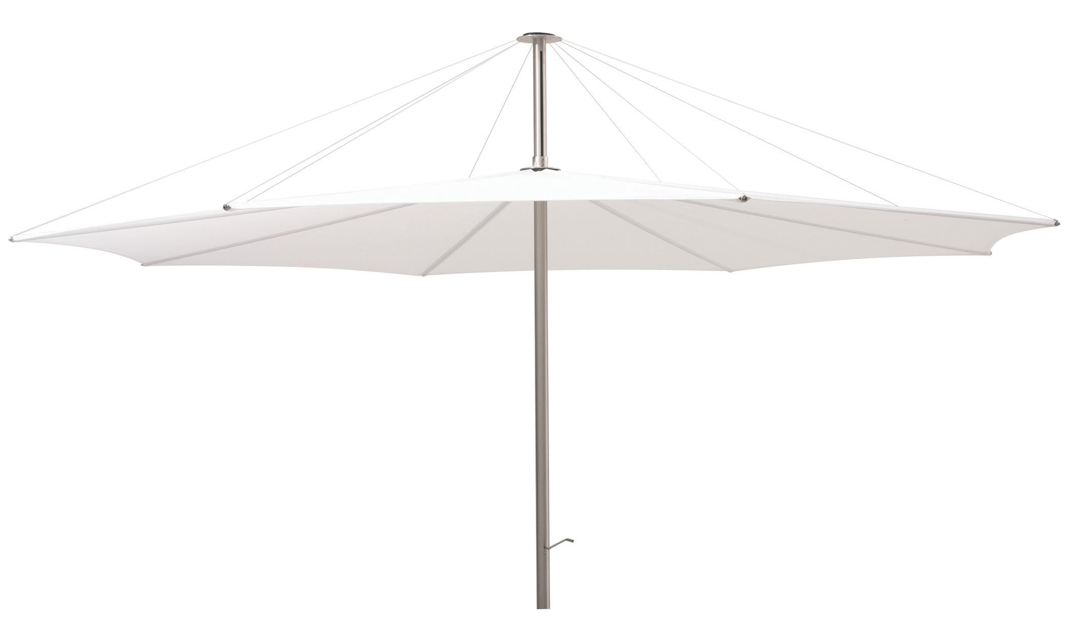 Outdoor - Sonnenschirme - Inumbra Sonnenschirm Ø 400 cm - Extremis - Sonnenschirm weiß - rostfreier Stahl, Toile de polyester
