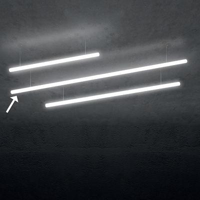 Illuminazione - Lampadari - Sospensione Alphabet of light Linear - / Bluetooth - L 240 cm di Artemide - L 240 cm / Bianco - Alluminio, Metacrilato
