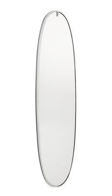 Leuchten - Wandleuchten - La Plus Belle Spiegel leuchtend LED / By Starck - H 205 cm - Flos - Aluminium poliert - Aluminiumlegierung, Sekurit-Glas, Silikon