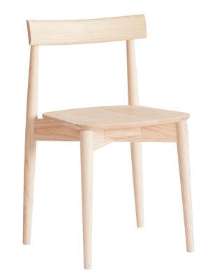 Furniture - Chairs - Lara Stacking chair - / Wood by Ercol - Natural ash - Ashwood
