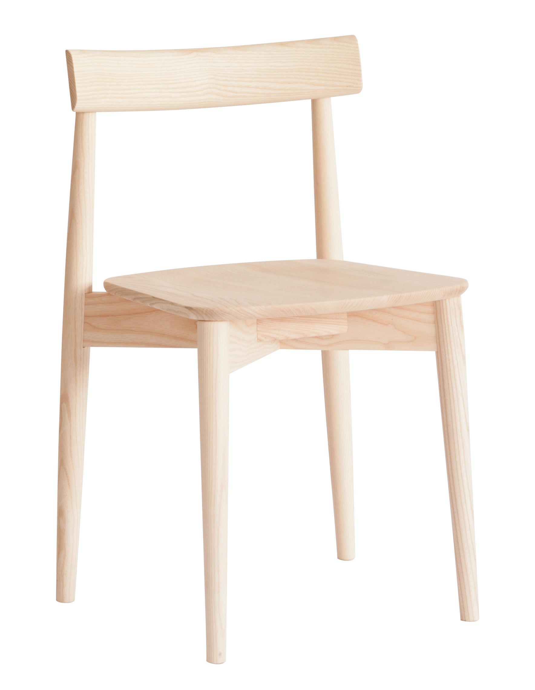 Möbel - Stühle  - Lara Stapelbarer Stuhl / Holz - Ercol - Esche natur - Esche massiv