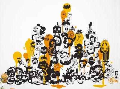 Déco - Stickers, papiers peints & posters - Sticker Adventures on doodle-safari 1 - Domestic - Jaune - Vinyle