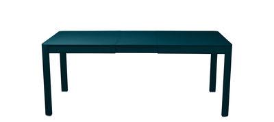 Table à rallonge Ribambelle Small / L 149 à 191 cm - 6 à 8 personnes - Fermob bleu acapulco en métal