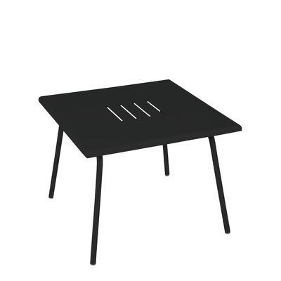 Table basse Monceau / 57 x 57 cm - Acier - Fermob noir en métal